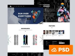 Creative Snowboarding ‰ÛÒ PSD website template
