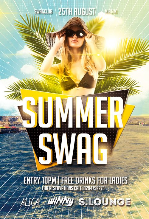 Summer Swag Party Flyer Template