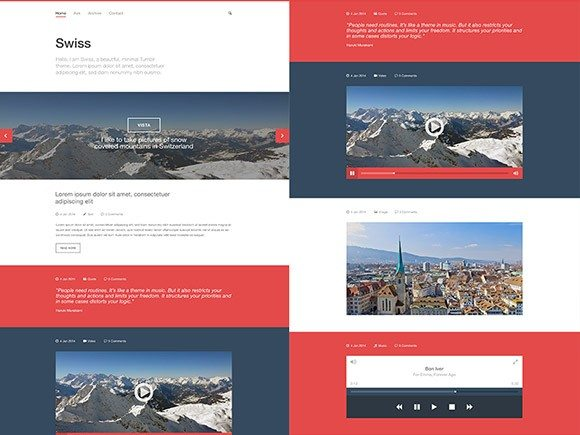 Creative Swiss ‰ÛÒ Free PSD Tumblr template