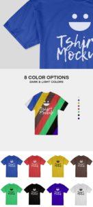 Creative Cotton T-Shirt Mockup PSD
