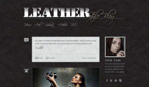 Creative Tumblr Leather Blog PSD theme