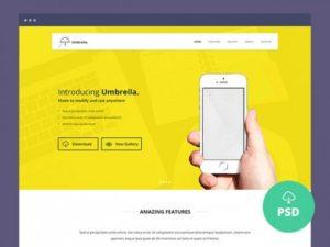 Creative Umbrella ‰ÛÒ One page website template