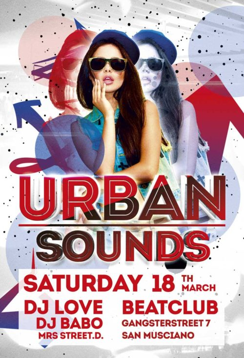 Urban Sounds Party Flyer Template