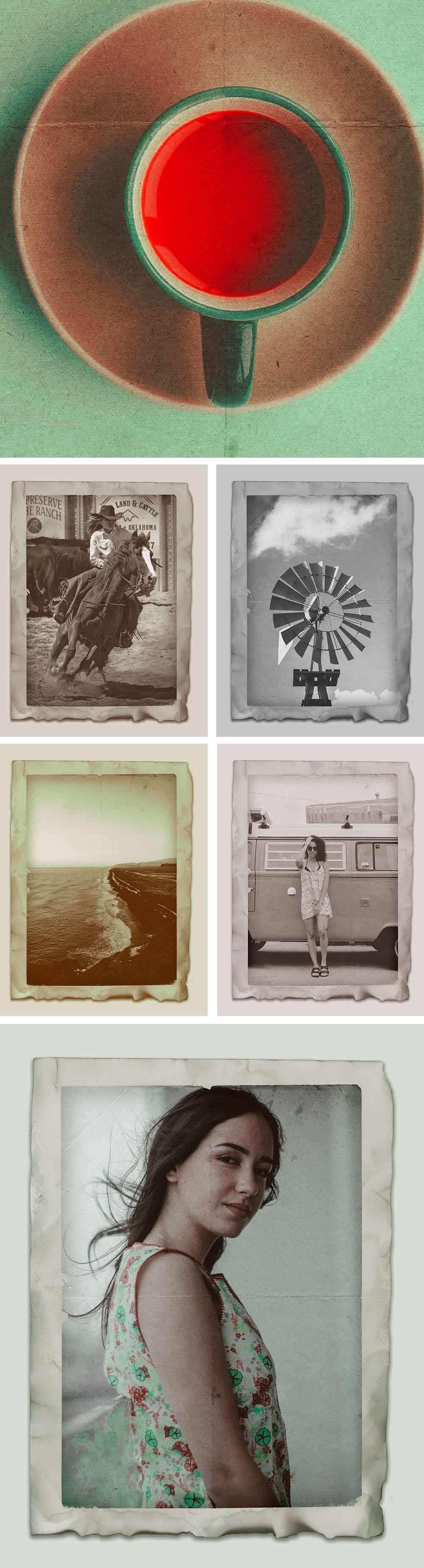 Creative Free Vintage Photo Effects PSD