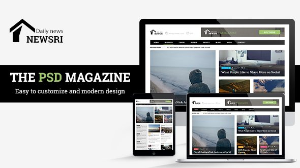 Newsri - Magazine PSD Template
