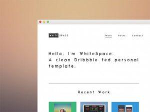 Creative WhiteSpace theme free PSD
