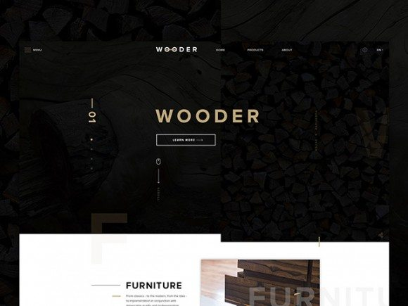 Creative Wooder: Website template for companies
