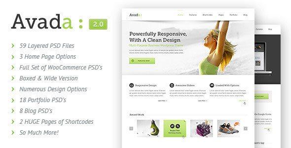 Avada - Themeforest PSD Template