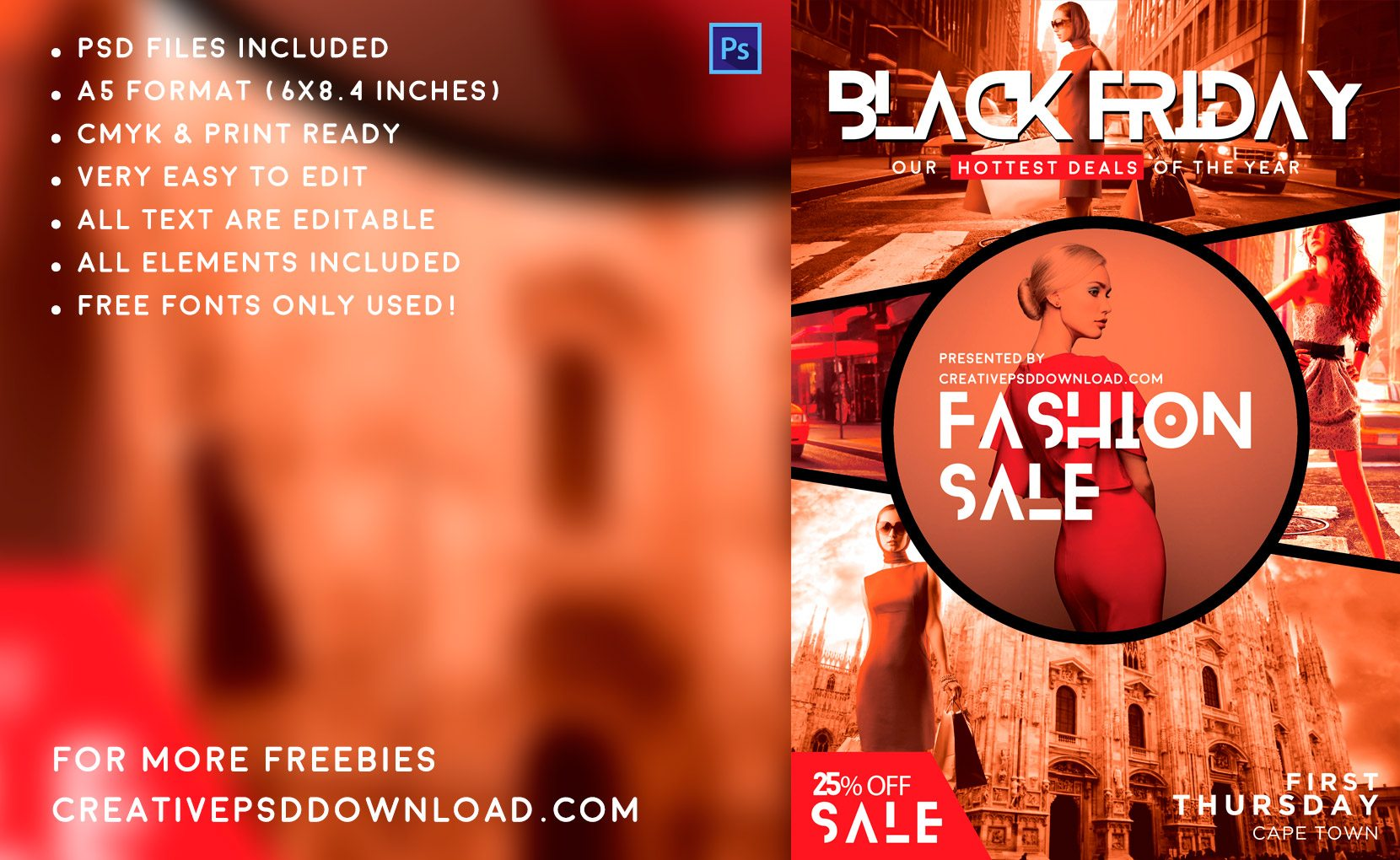 Creative fashion sale flyer details