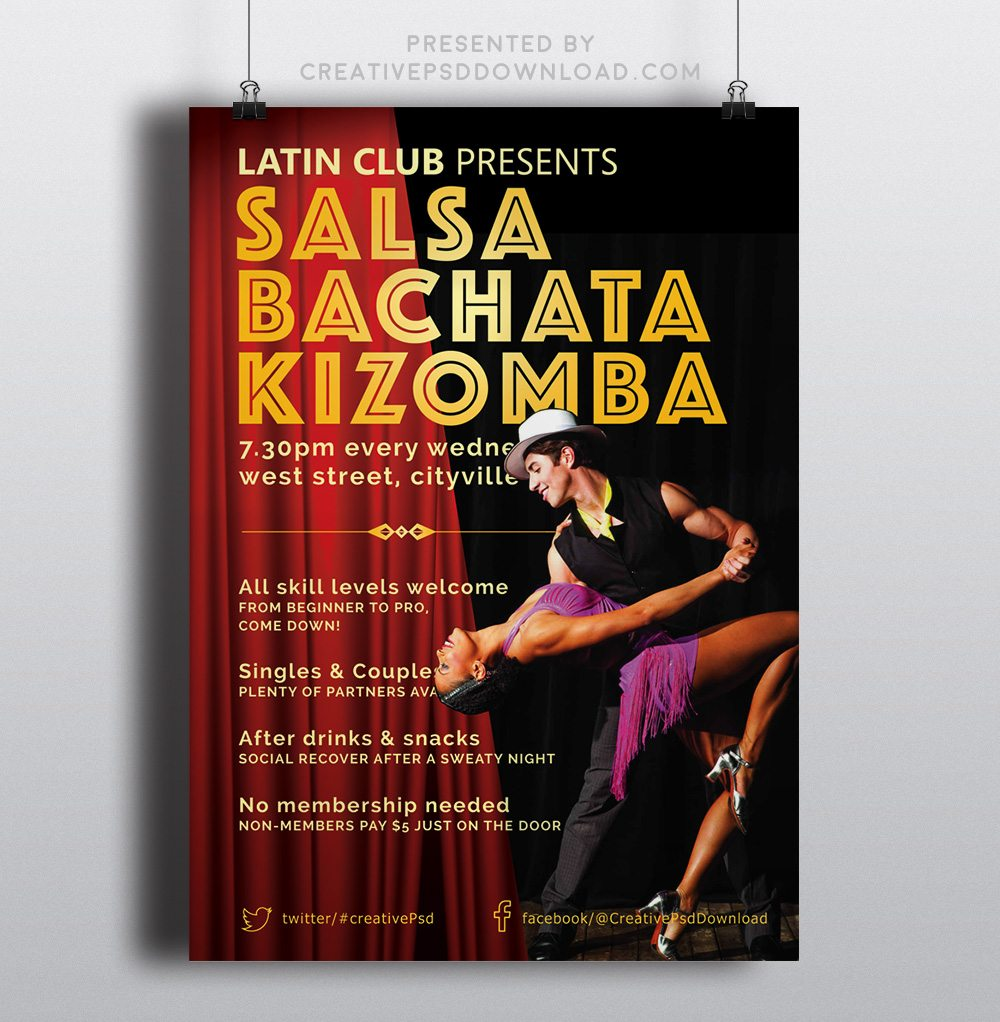 Creative Latin Salsa Flyers Thumbnail