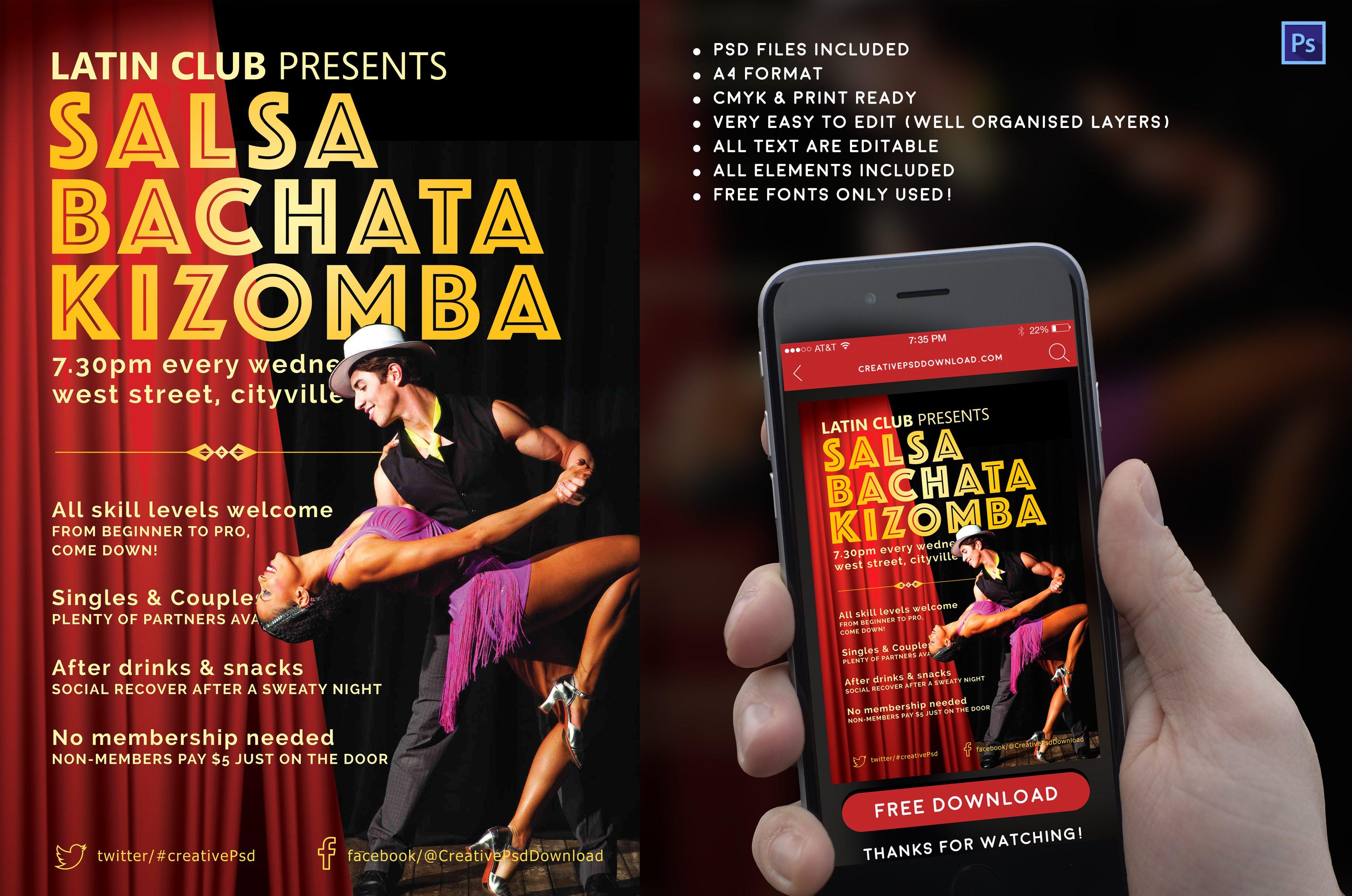 Creative Latin Salsa Flyers Details