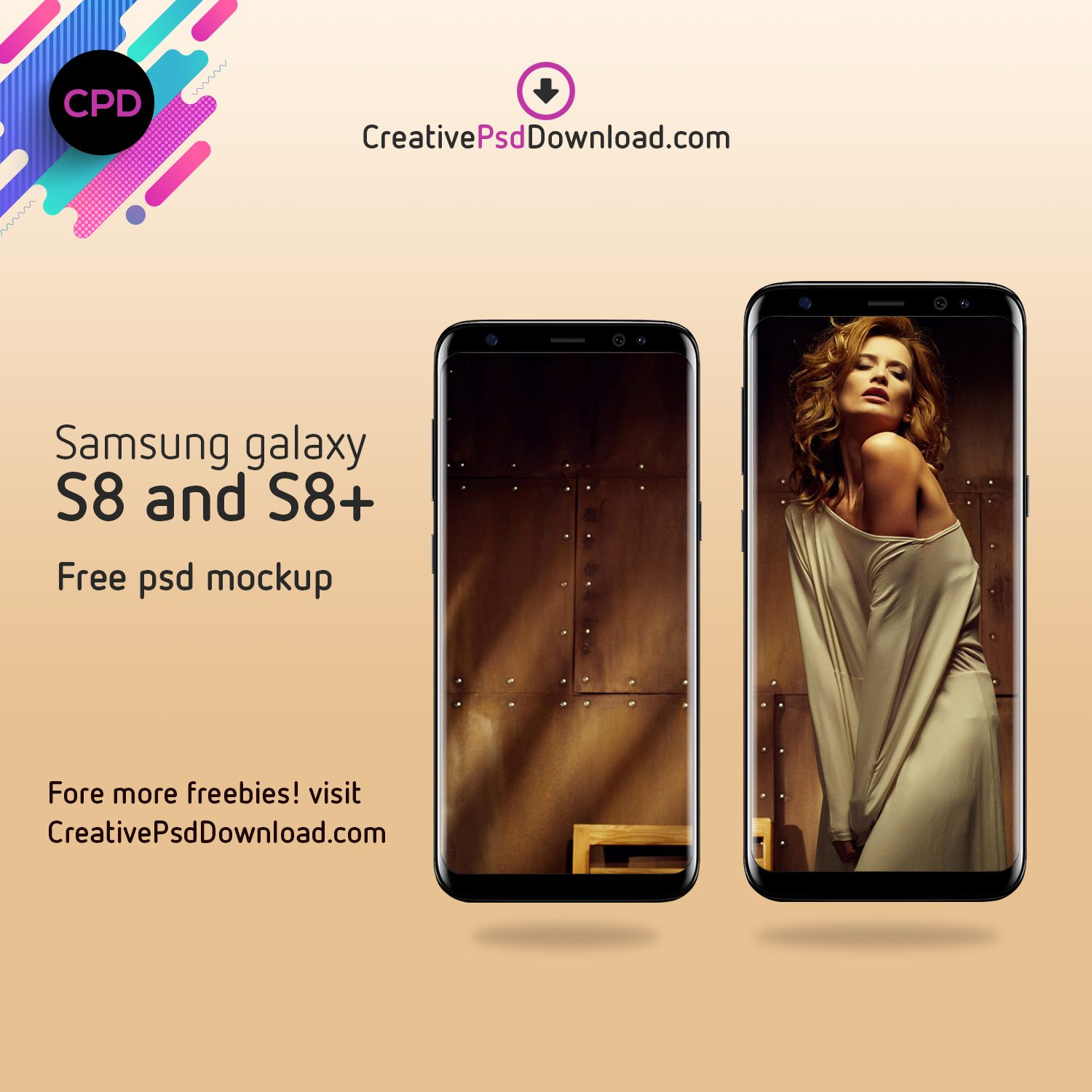 Samsung Galaxy S8 And S8+ Free Psd Mockup Thumbnail
