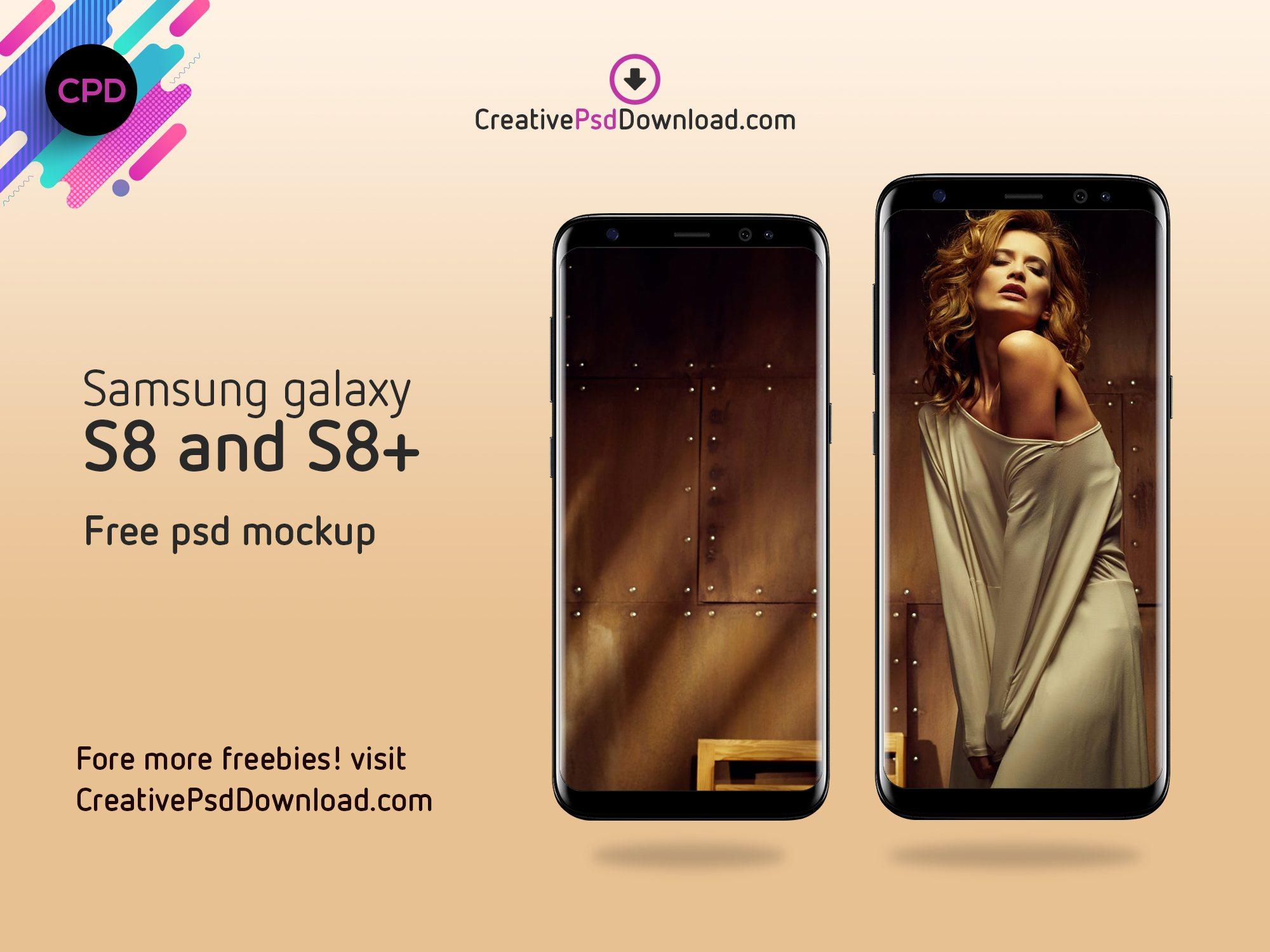 Samsung Galaxy S8 And S8+ Free Psd Mockup