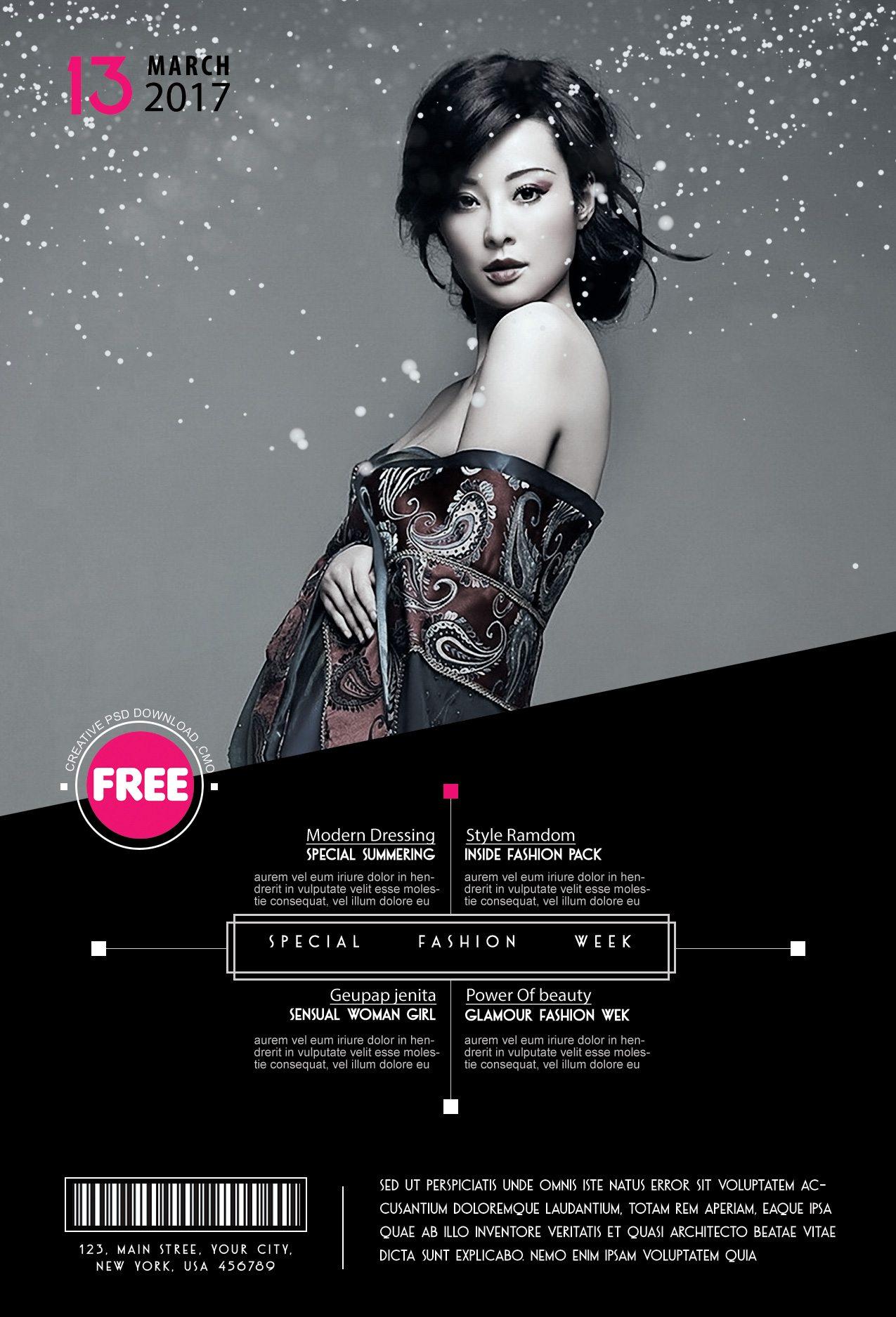 Special fashion week flyer