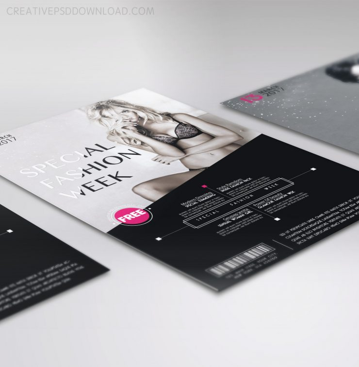 Special Fashion Week Flyer Free Template Download