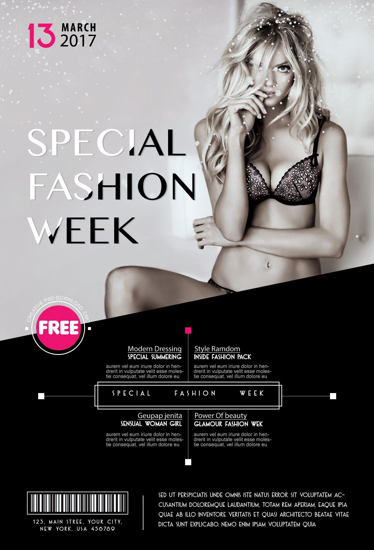 Special fashion week flyer 2