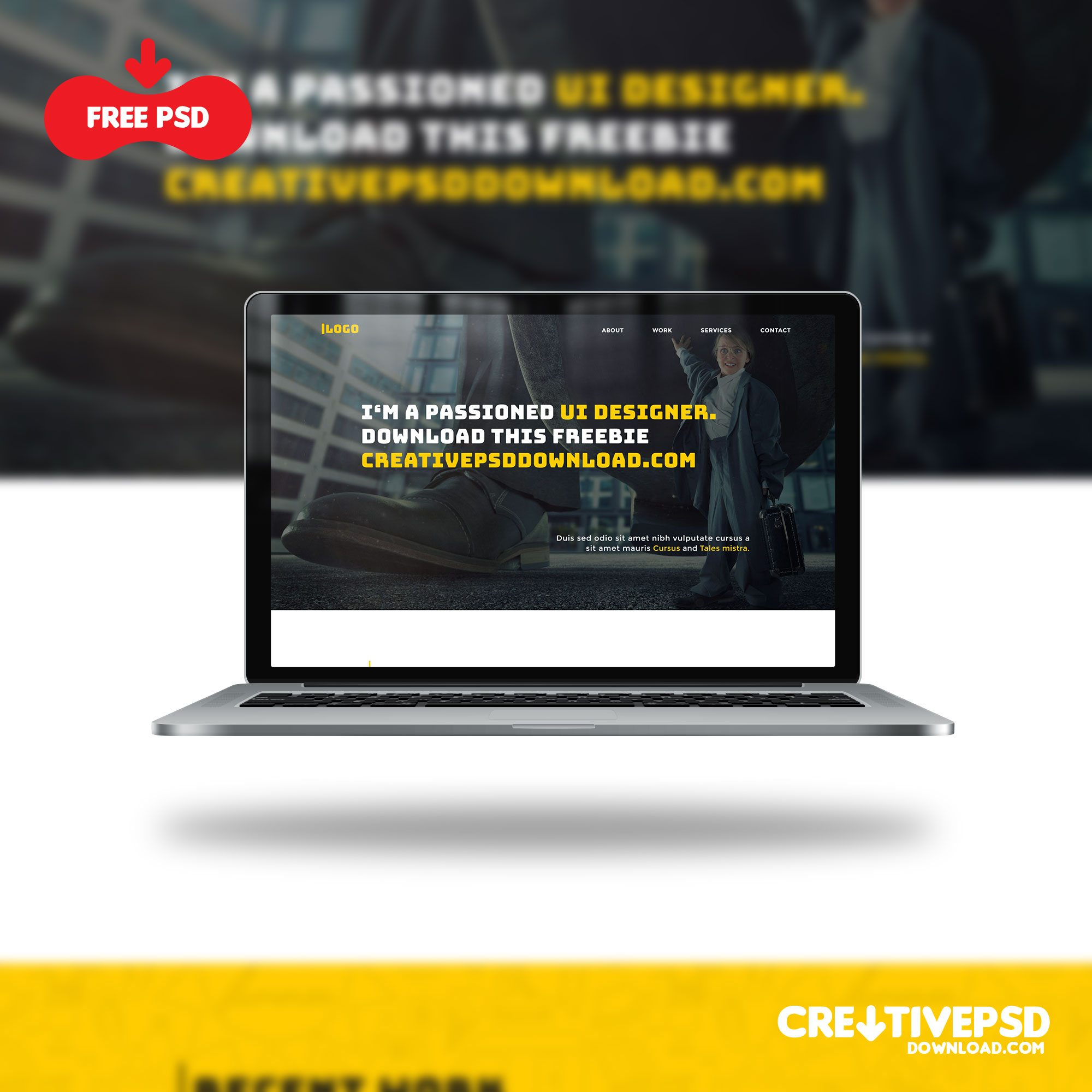 Portfolio Website Template UI Free PSD
