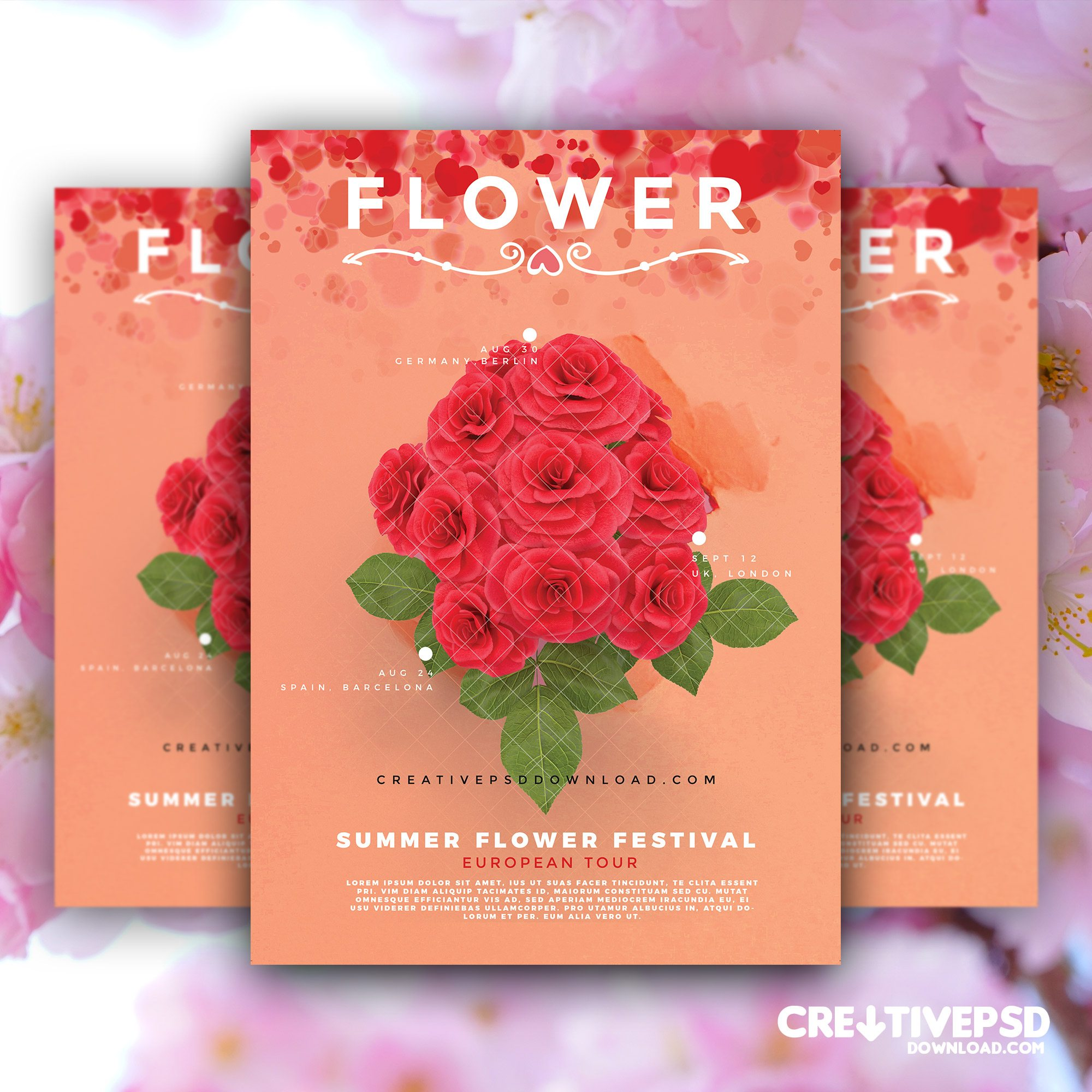 Flower Flyer Free PSD Template