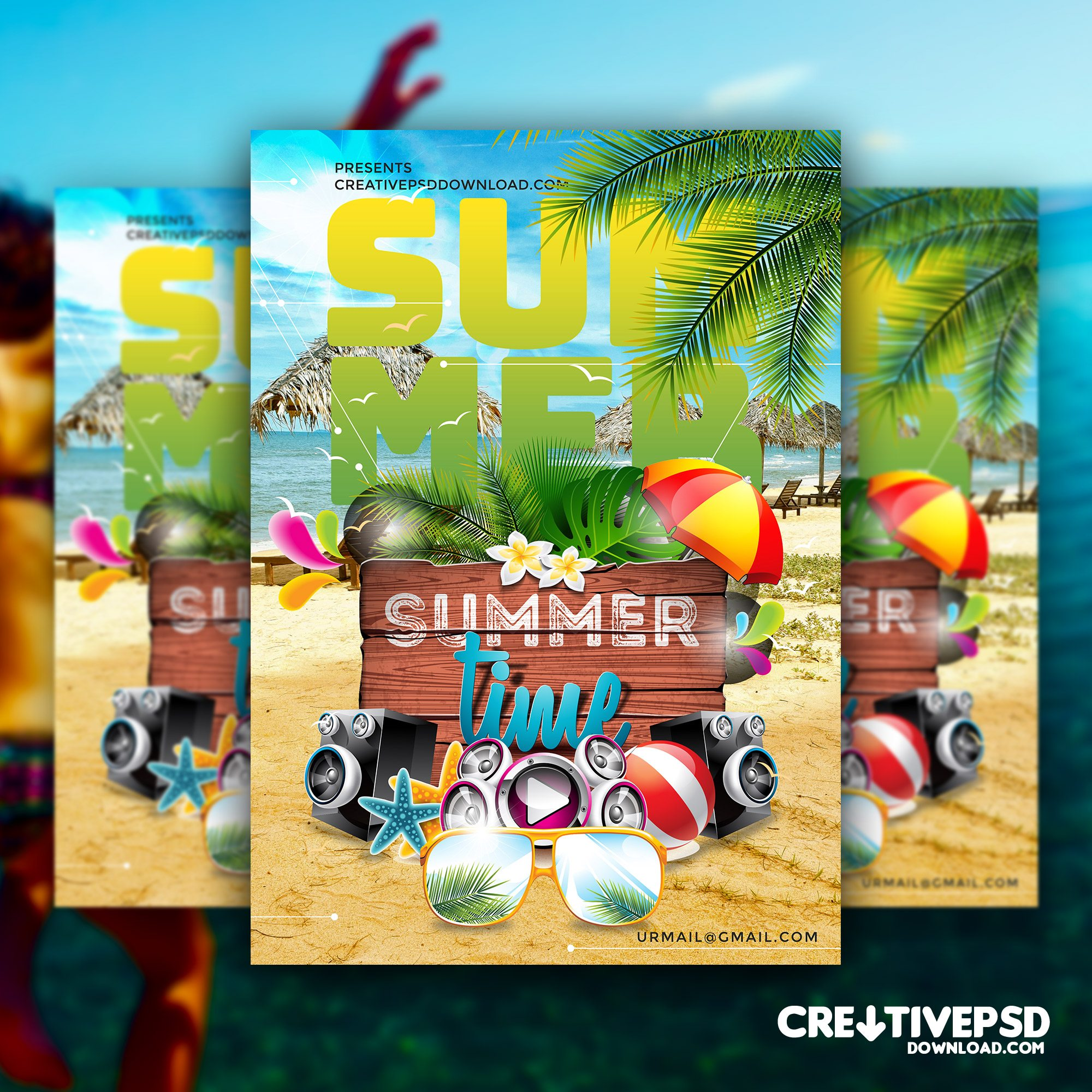 Summer Time Flyer PSD