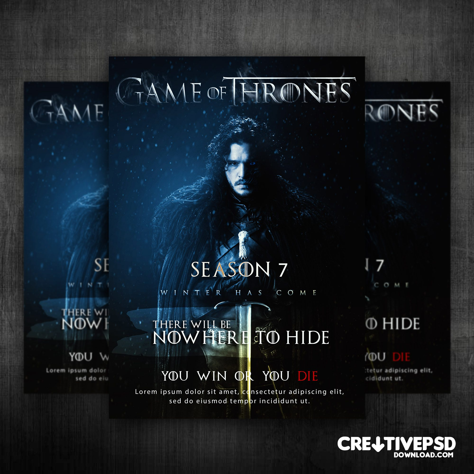Game Of Thrones Free Flyer PSD Mockup