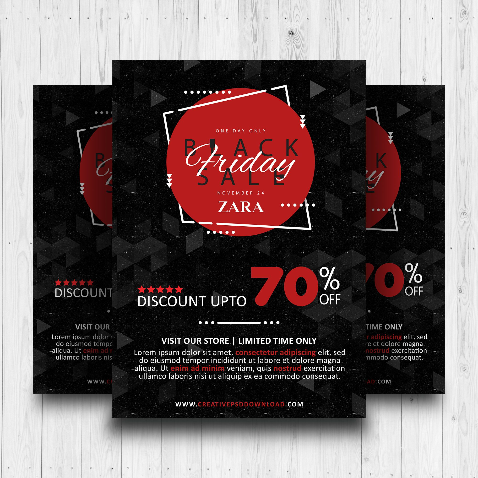 Black Friday Sale Free Flyer PSD