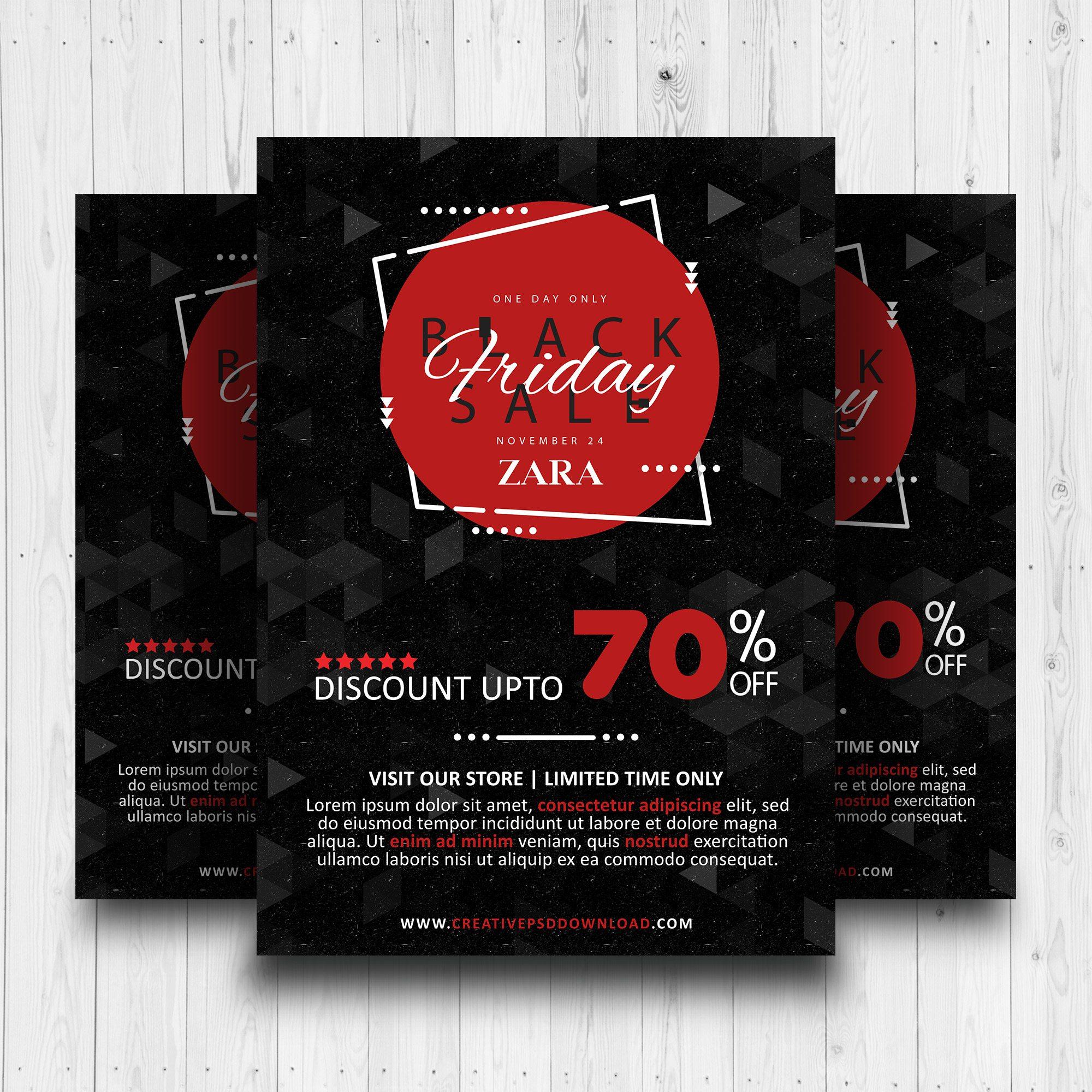 Black Friday Sale Free Flyer PSD