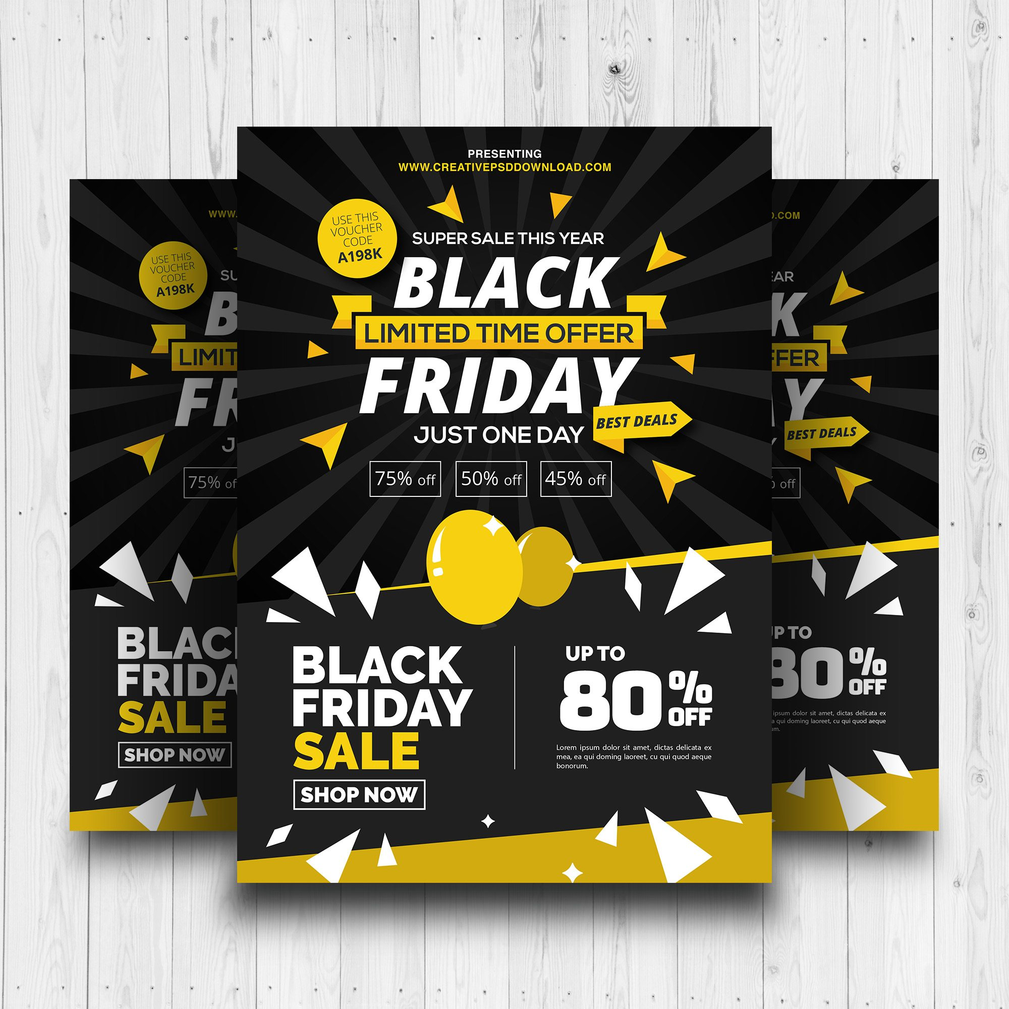 Free Black Friday Sale Promotion Flyer