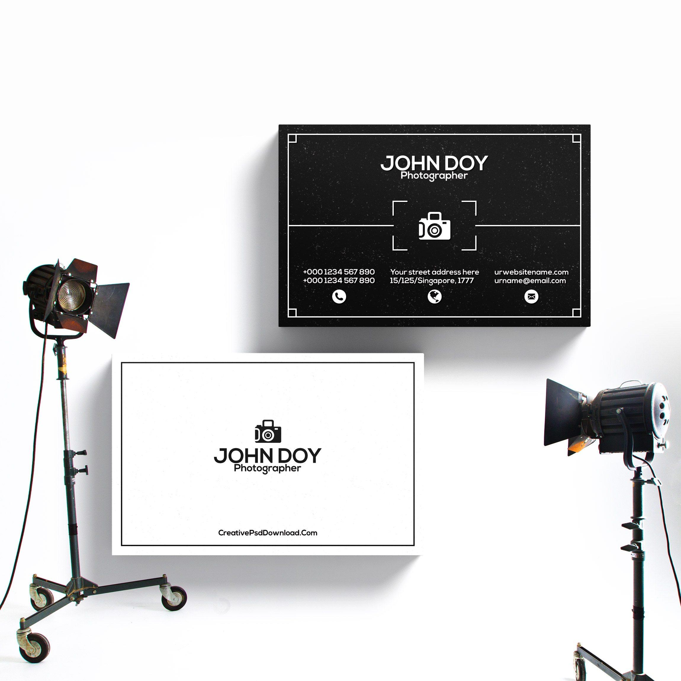 Premium Photographer Business Card Template