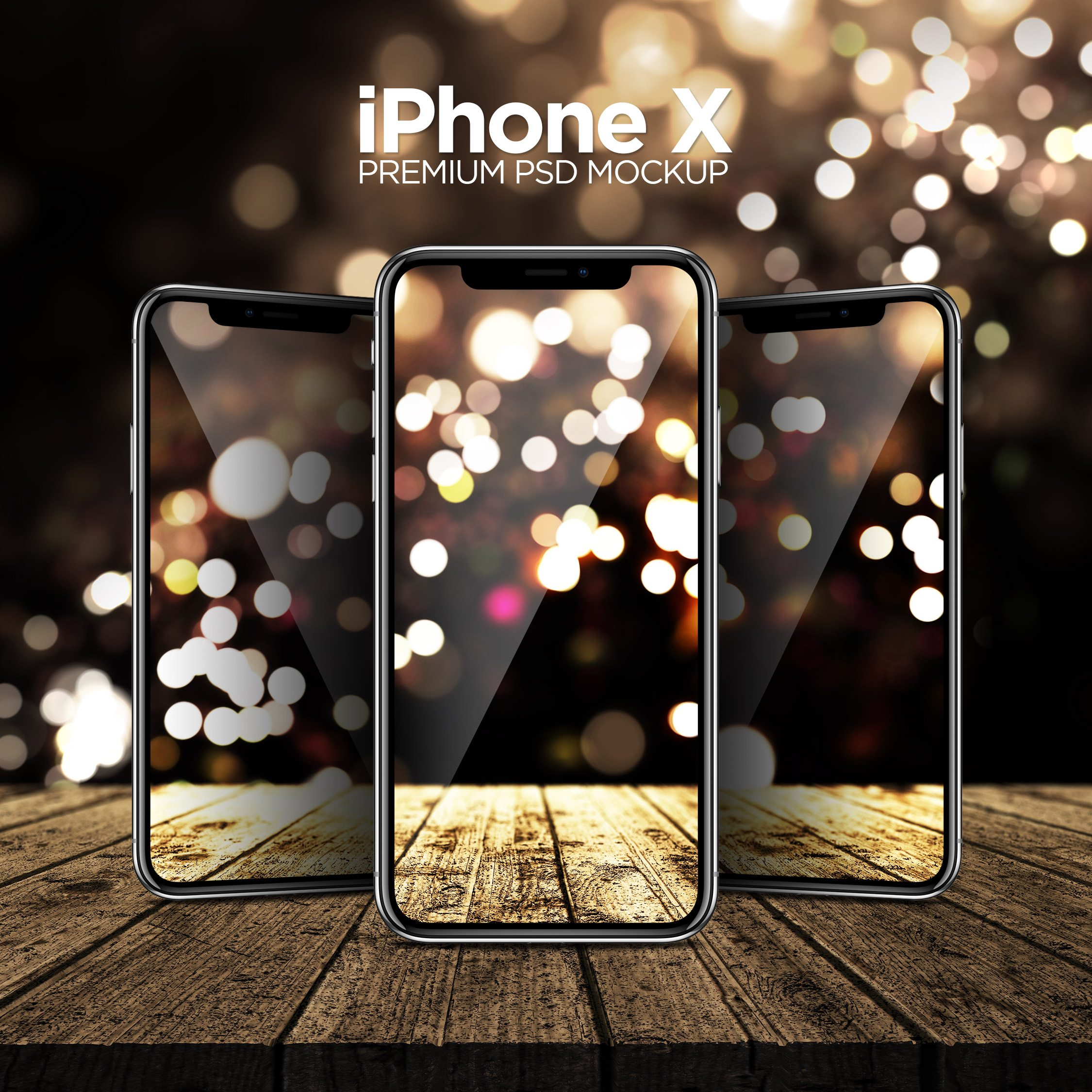 iPhone X Premium PSD Mockup