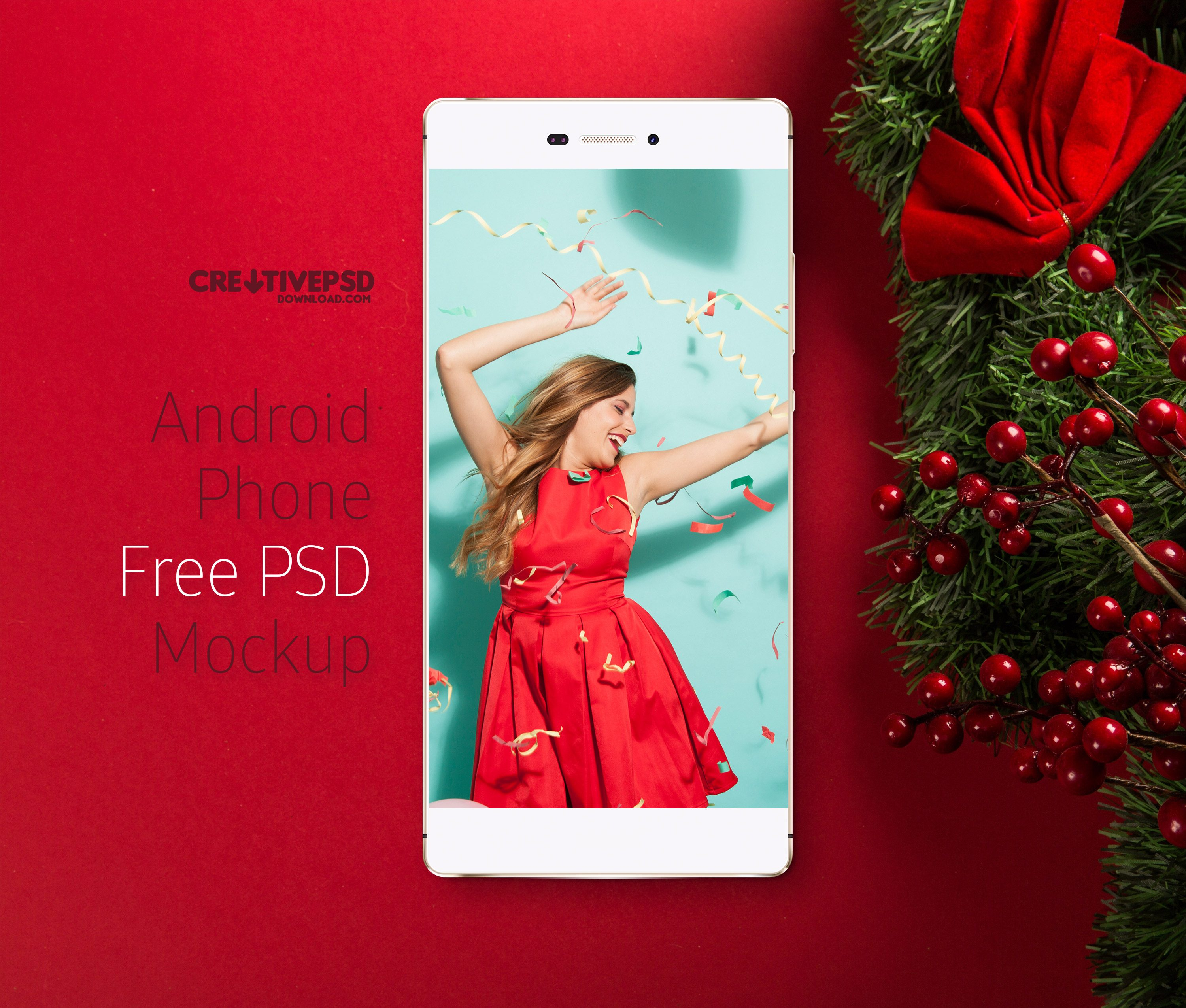 Android Phone Free PSD Mockup
