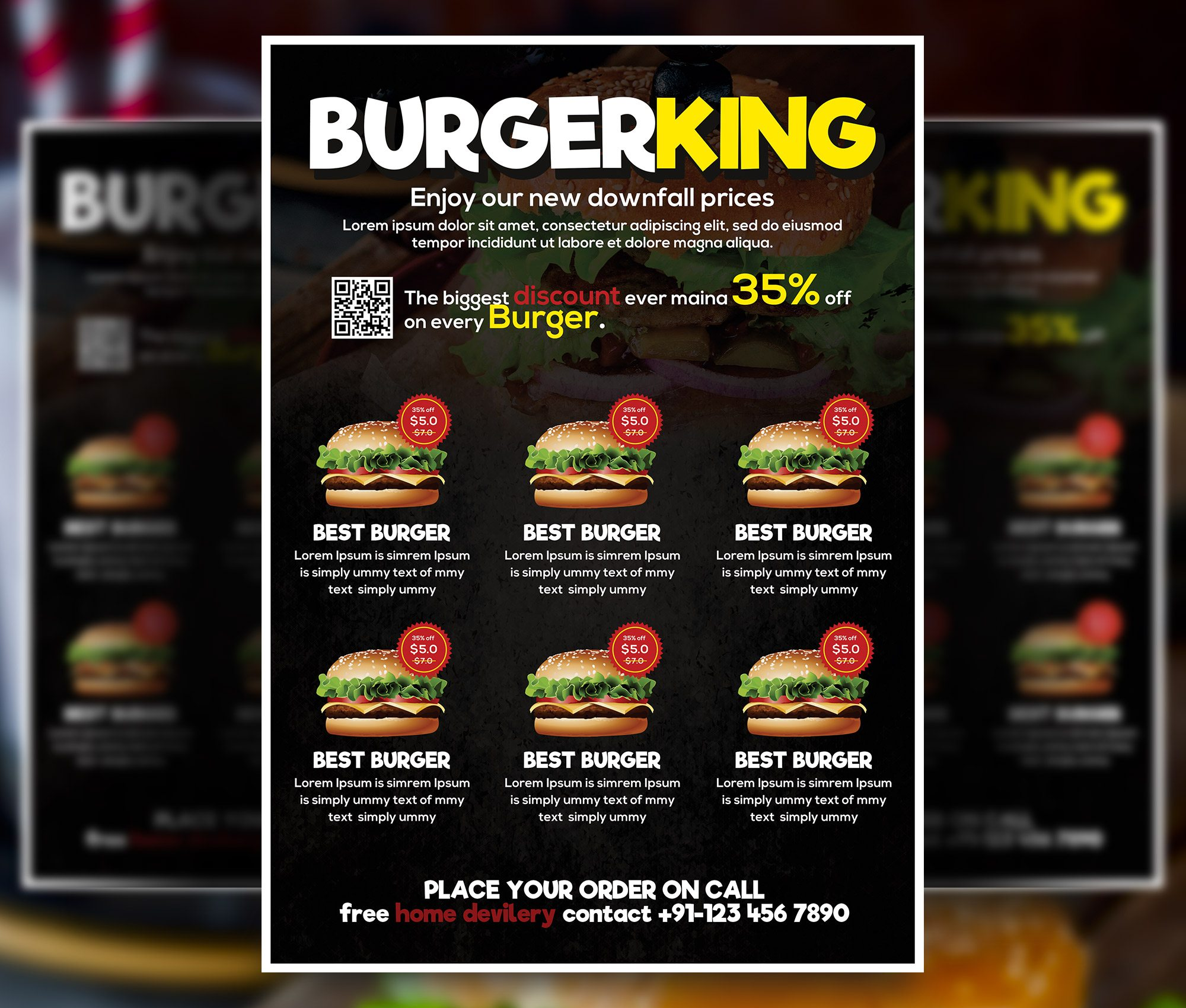 restaurant flyer psd free download,burger flyer template,burger flyer psd free,free burger flyer template,food flyers design,pizza flyer template free download,restaurant flyer template word,free food psd,Burger Menu Free Flyer PSD