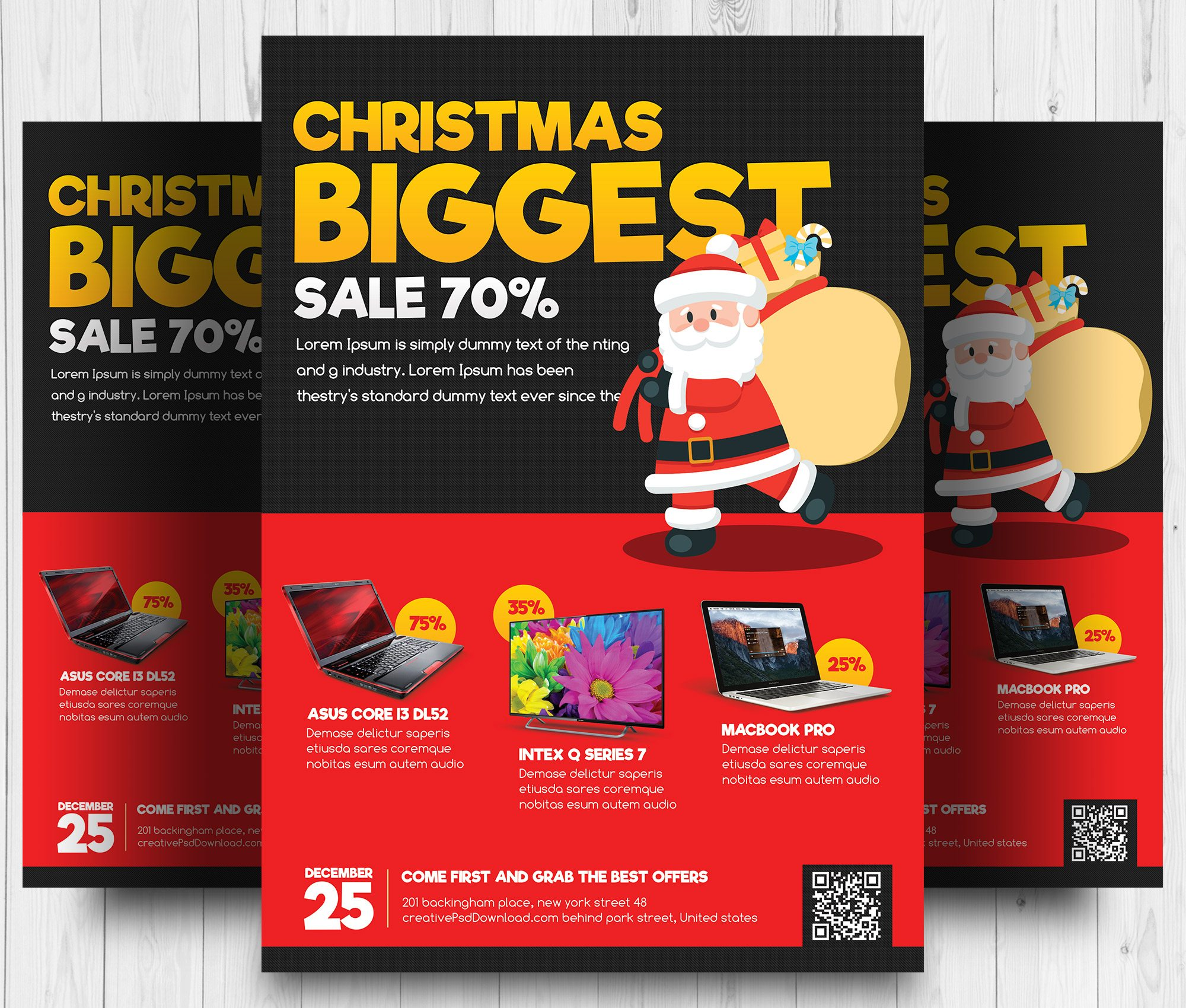 Christmas Sale Flyer Free PSD