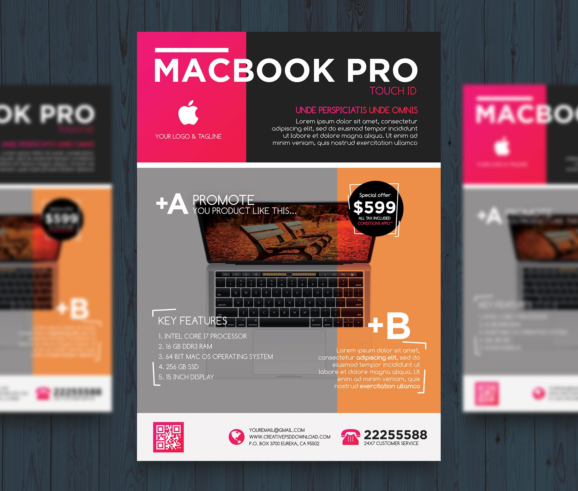 Corporate Sale [MacBook] Free Flyer PSD