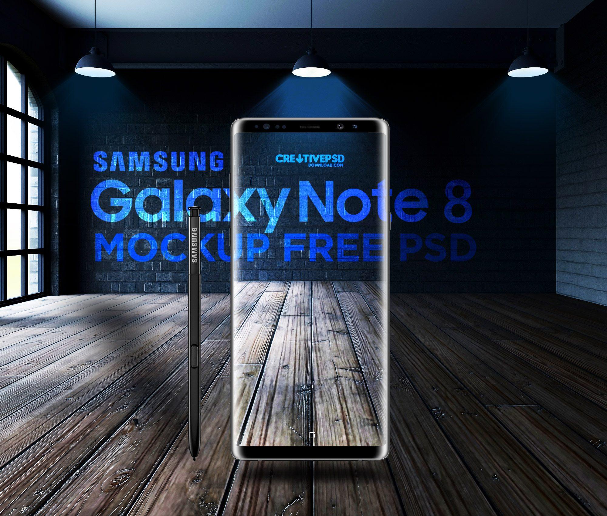 Samsung Galaxy Note 8 Free PSD Mockup