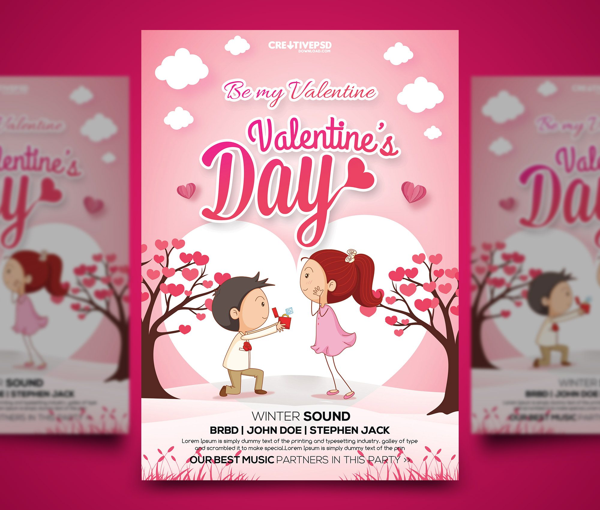 Valentines Day Free Flyer PSD