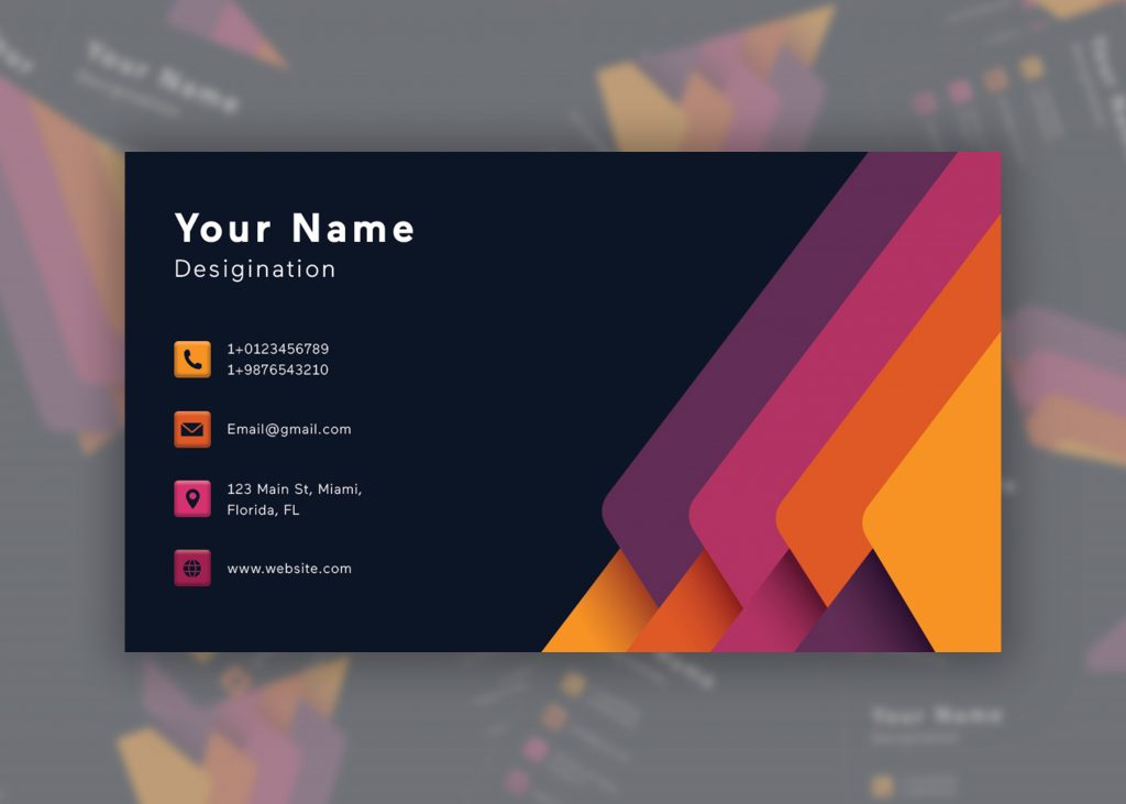 Business Card Premium Template Free PSD
