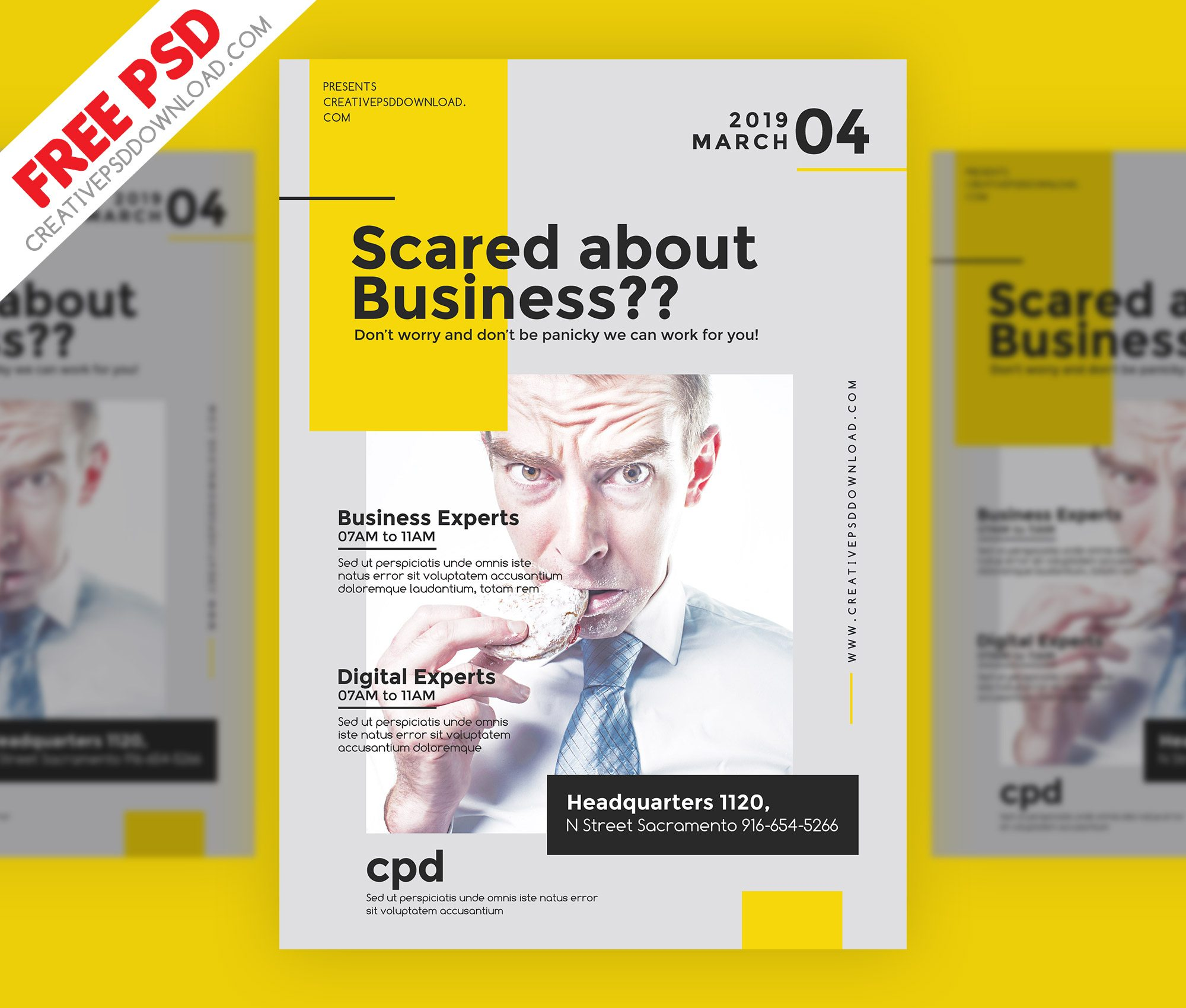Creative Business Flyer Free PSD