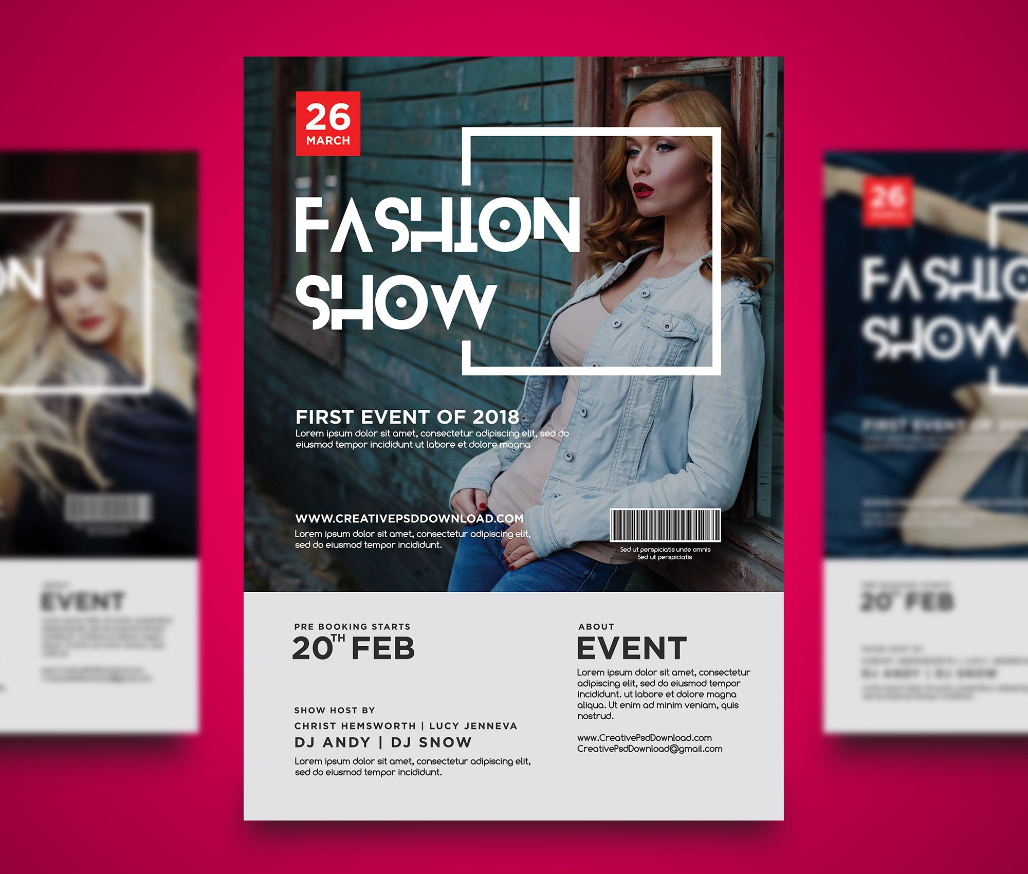 Fashion Show Flyer PSD Bundle Freebie