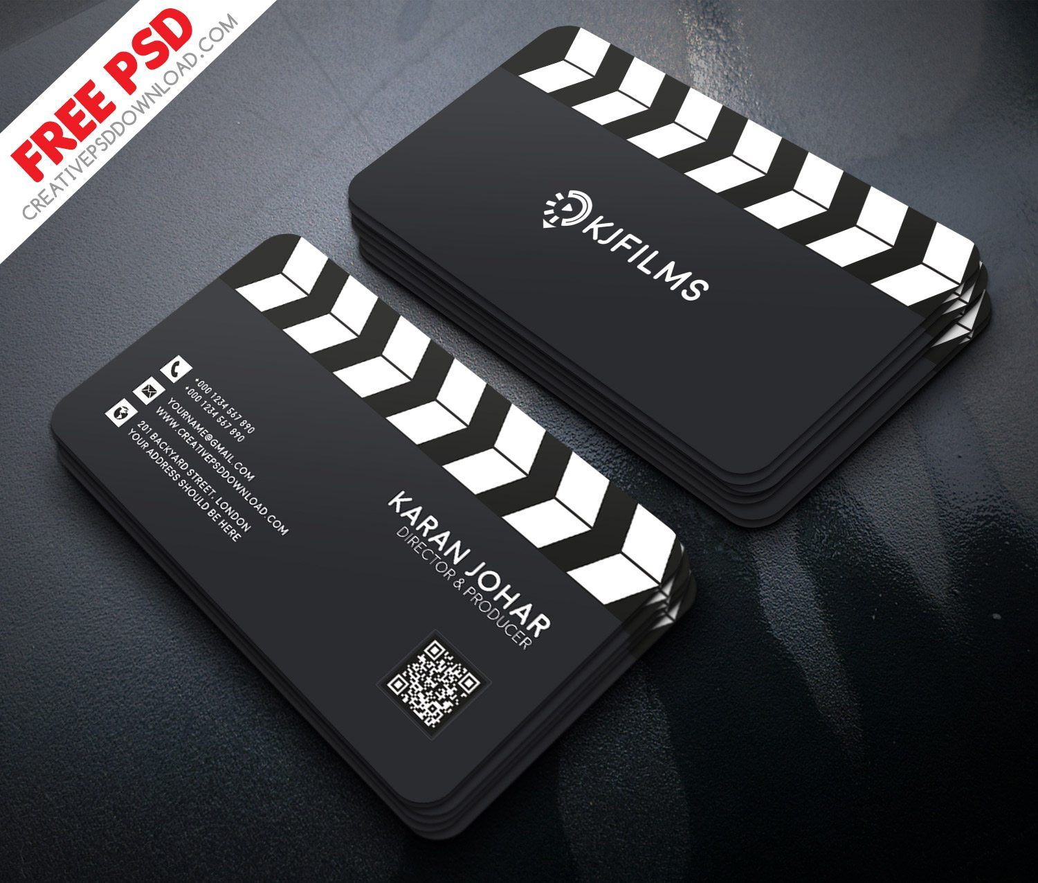 Film Clipper Free Business Card PSD