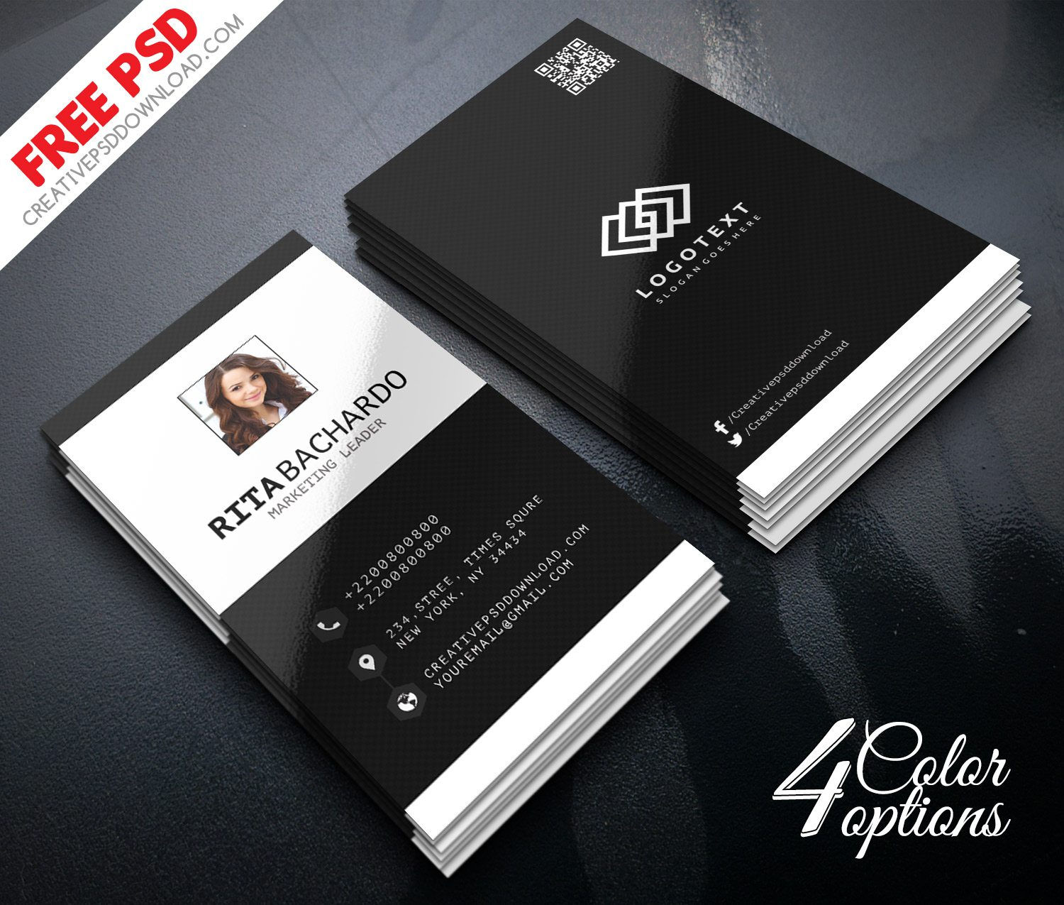Minimalist Business Marketing Business Card Freebie