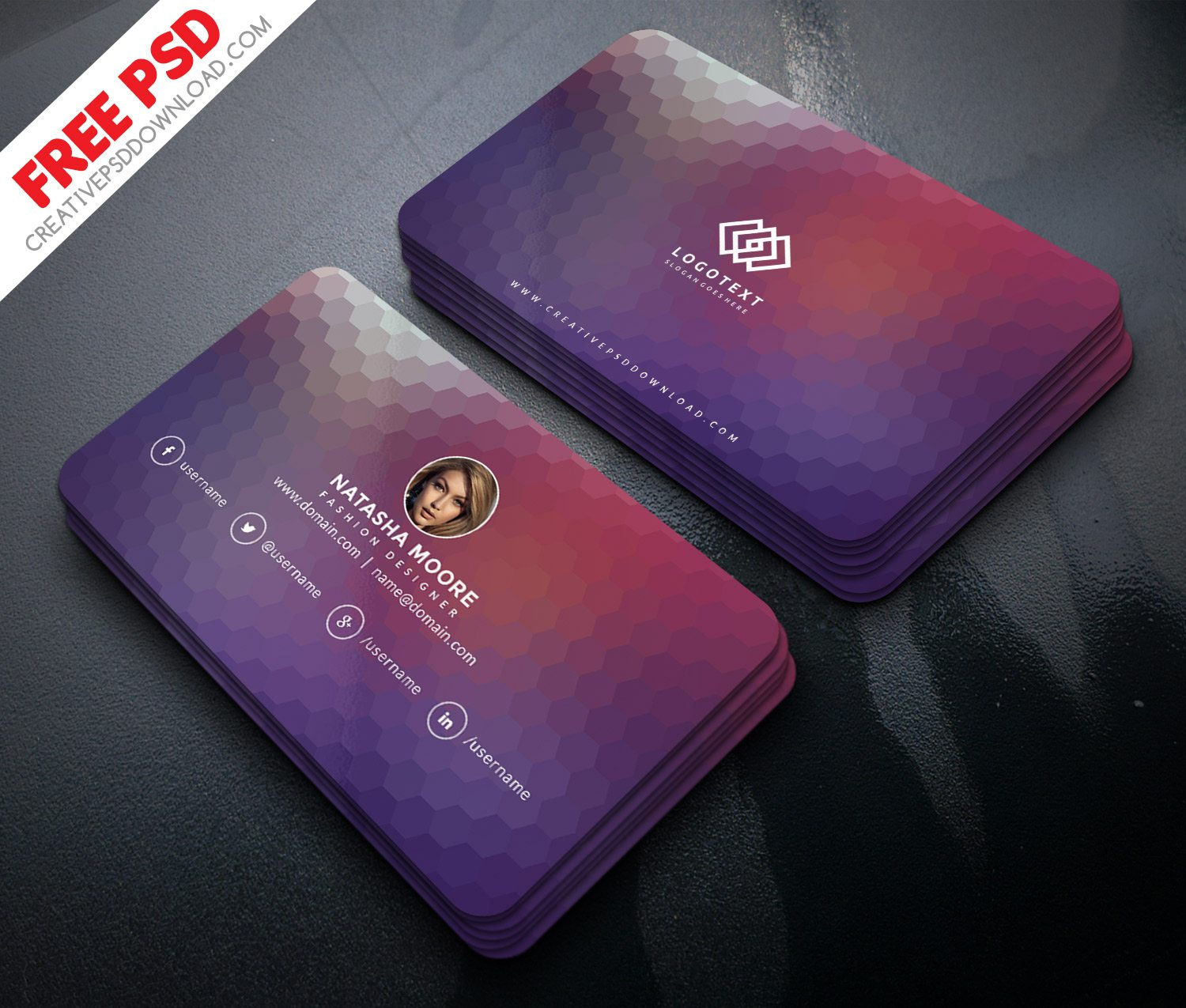Minimalist Fashion Designer Business Card PSD