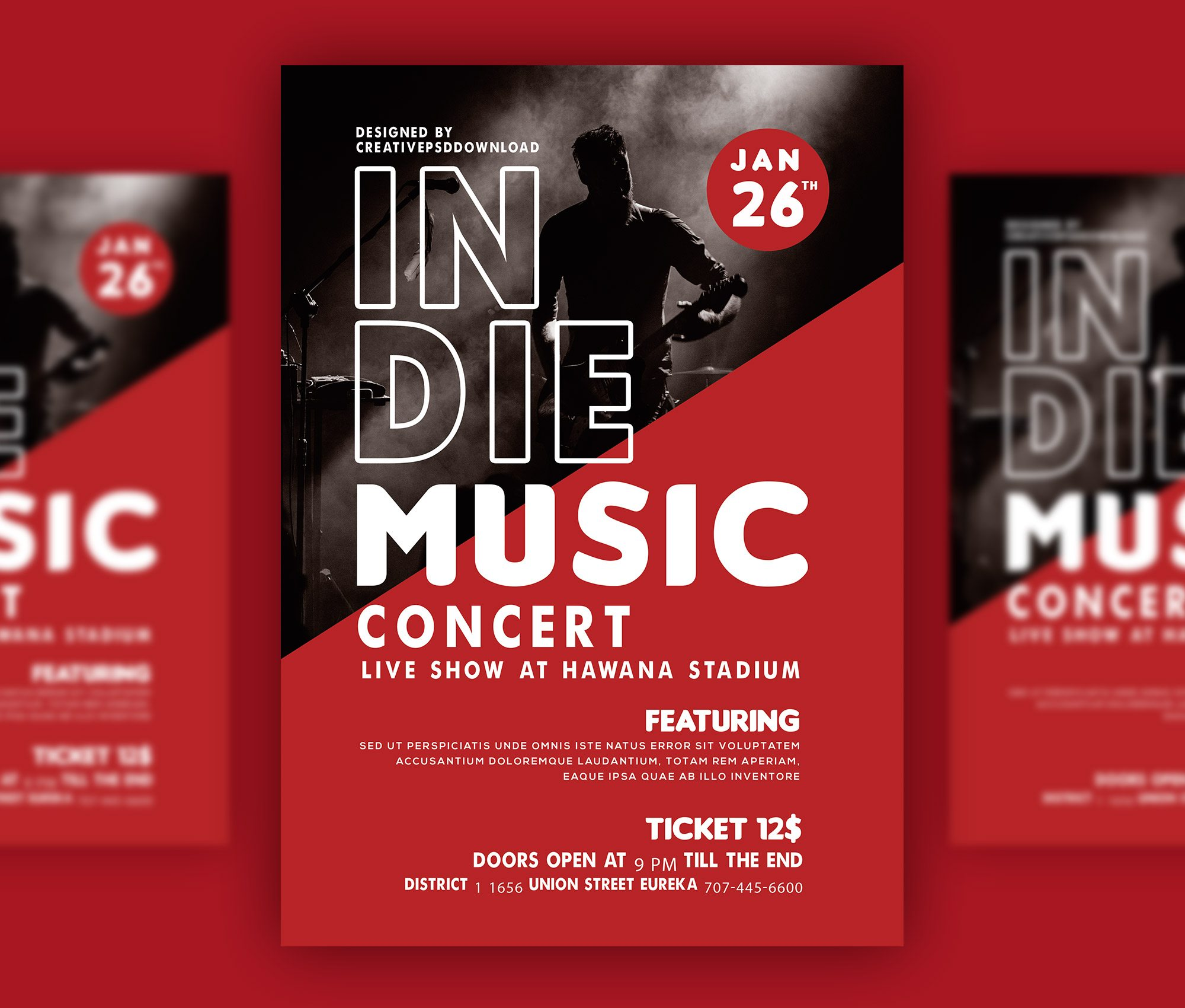 Music Concert Flyer PSD Bundle Freebie