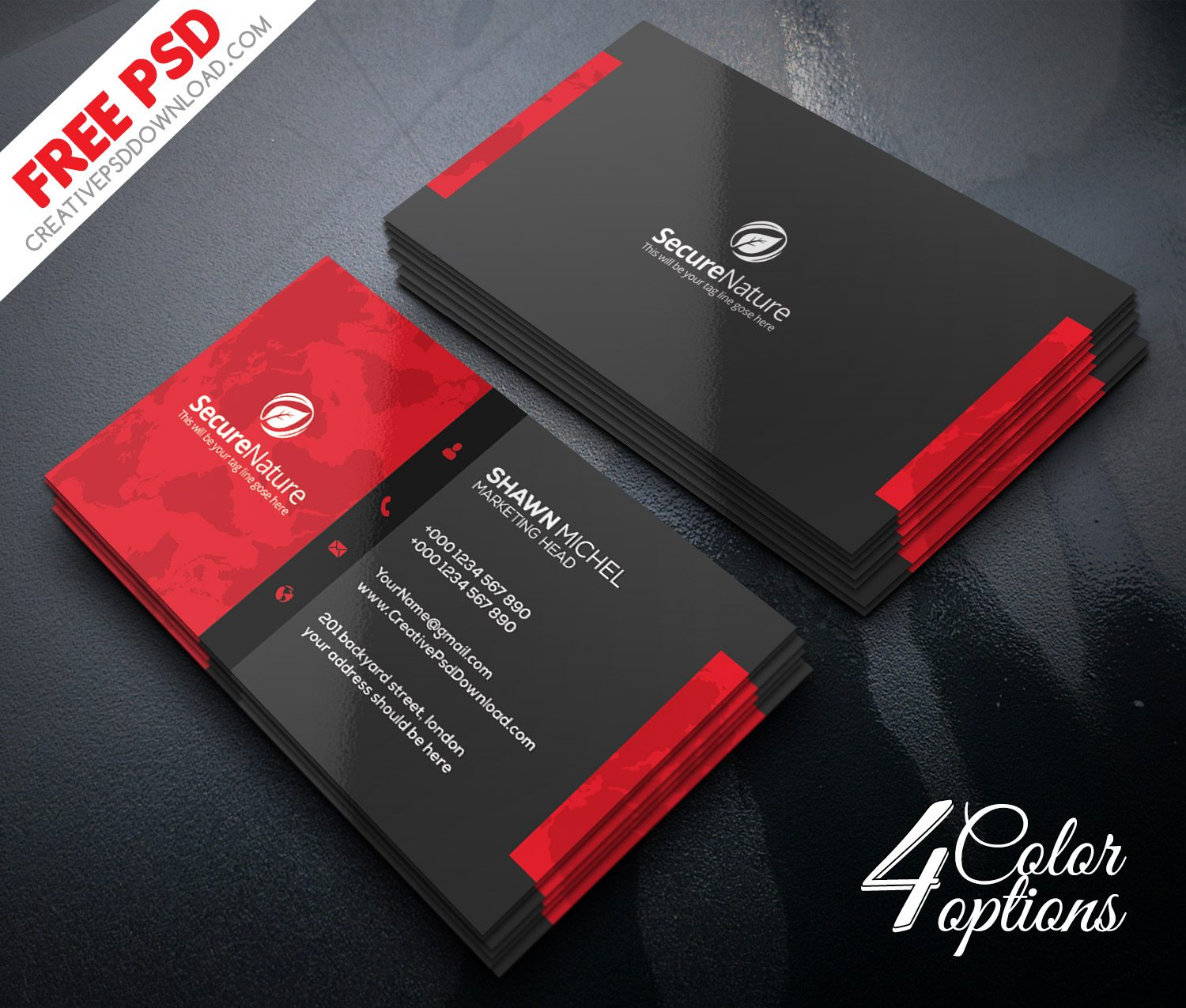 Premium Corporate Business Card PSD Freebie