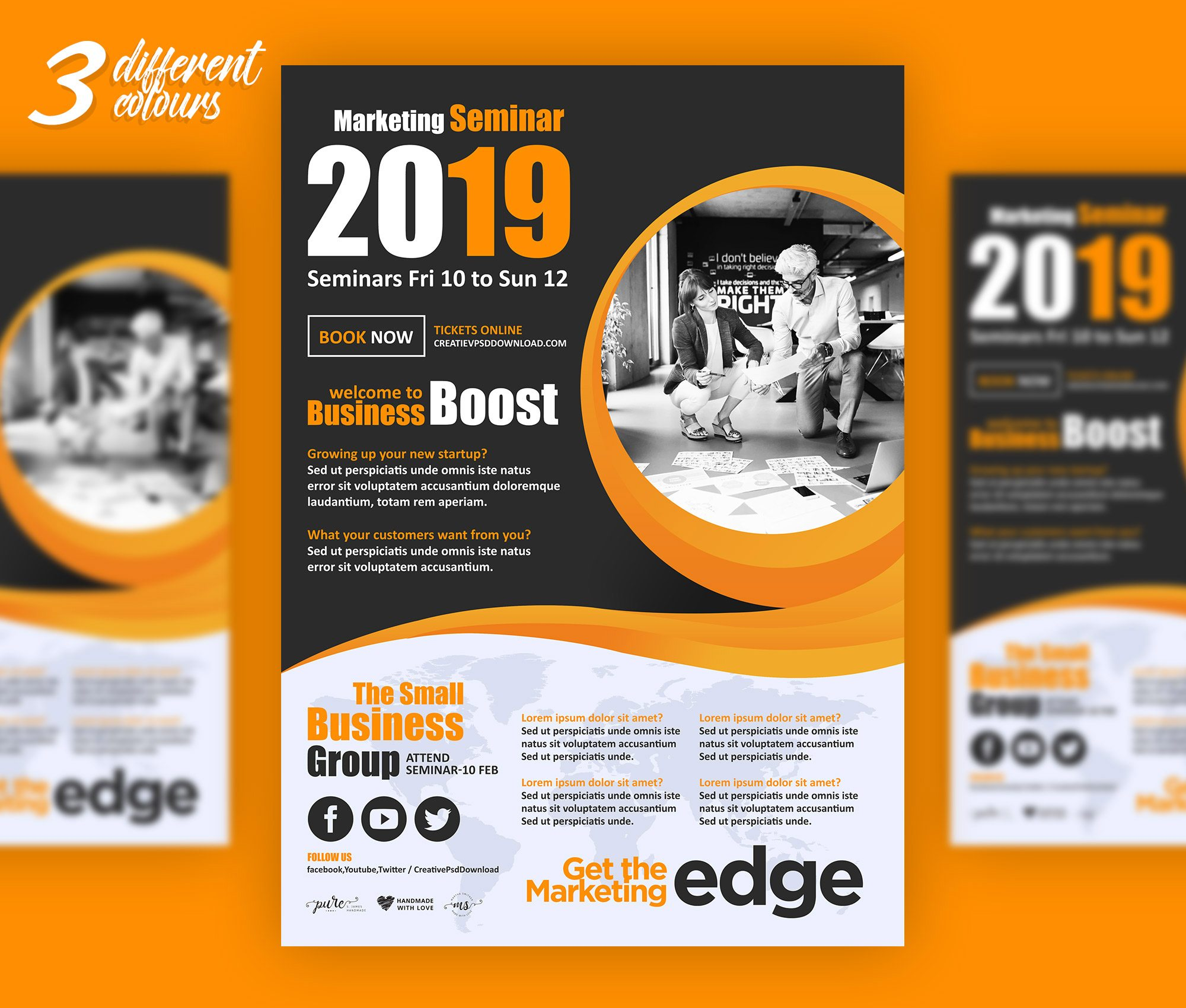 Premium Corporate Marketing Flyer PSD Freebie