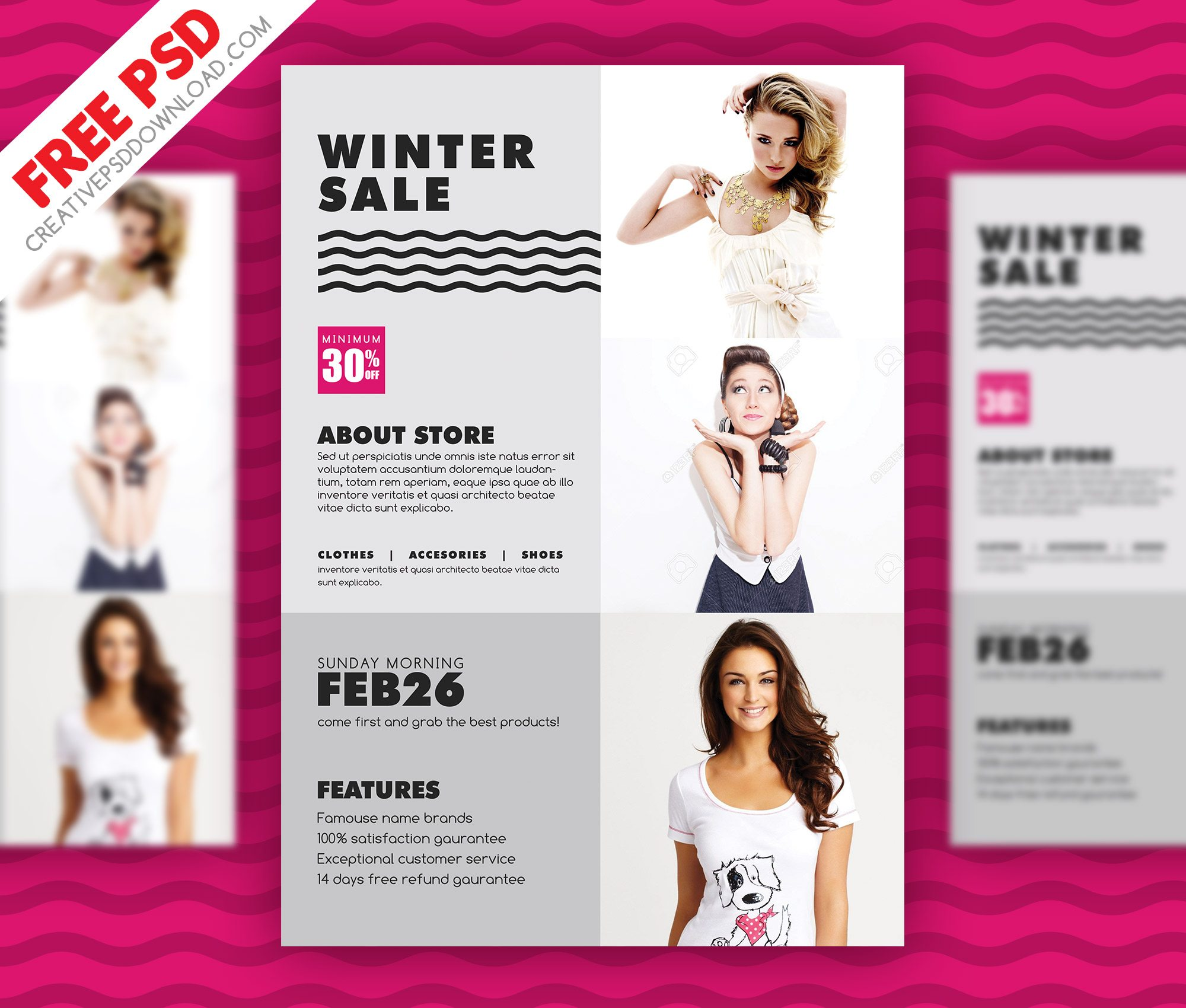 Winter Sale Flyer PSD Freebie