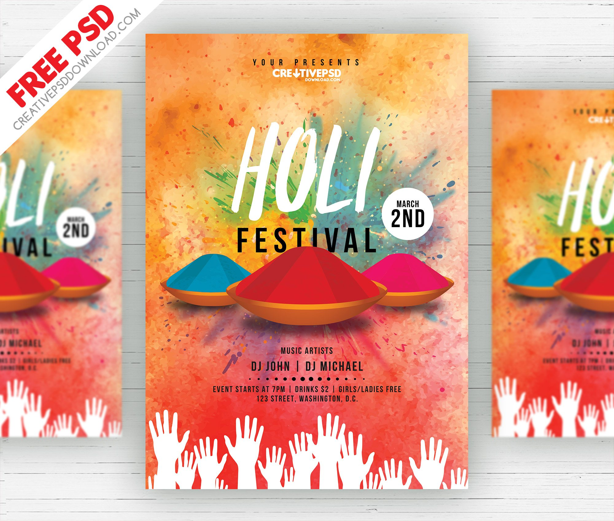 dj party flyer,download psd,festival flyer,festival party,free psd,holi festival flyer free psd,holy festival flyer,holy flyer,holy party flyer,psd freebies,psd mockup