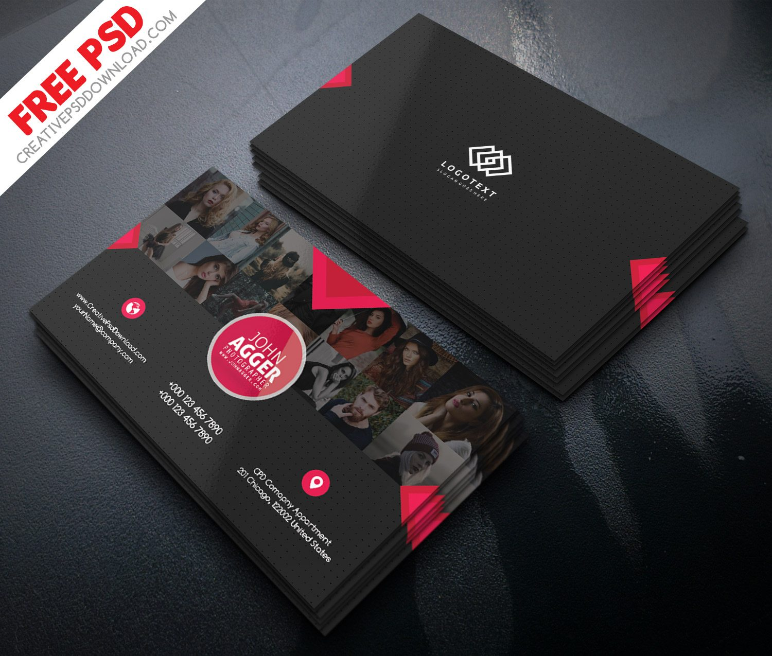 Photographer Business Card Free PSD