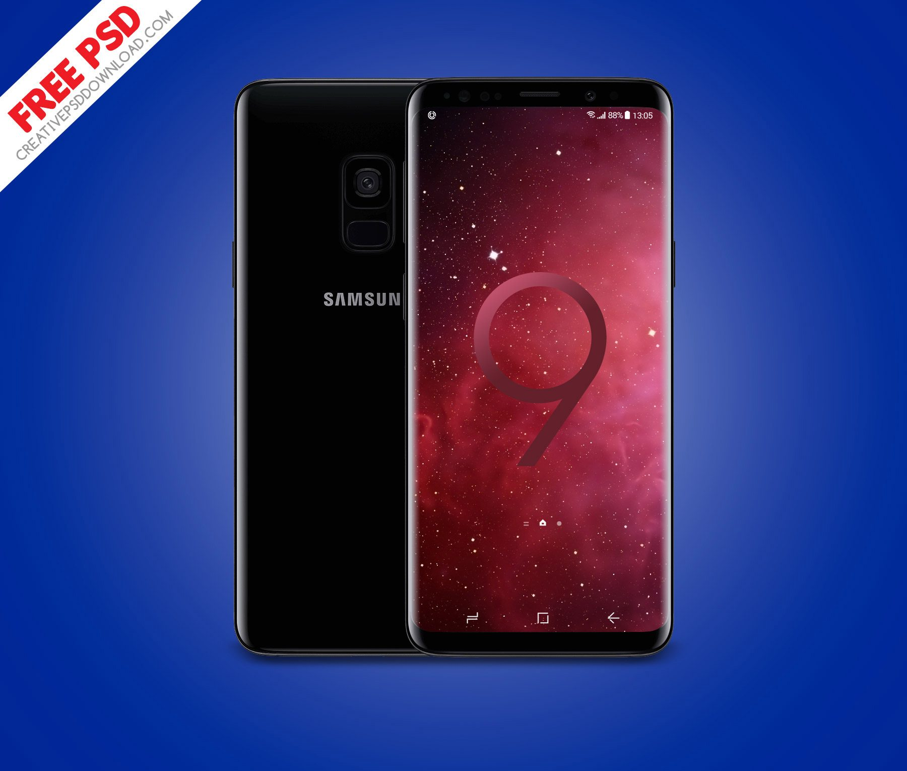 Samsung Galaxy S9 Front And Back Free PSD Mockup