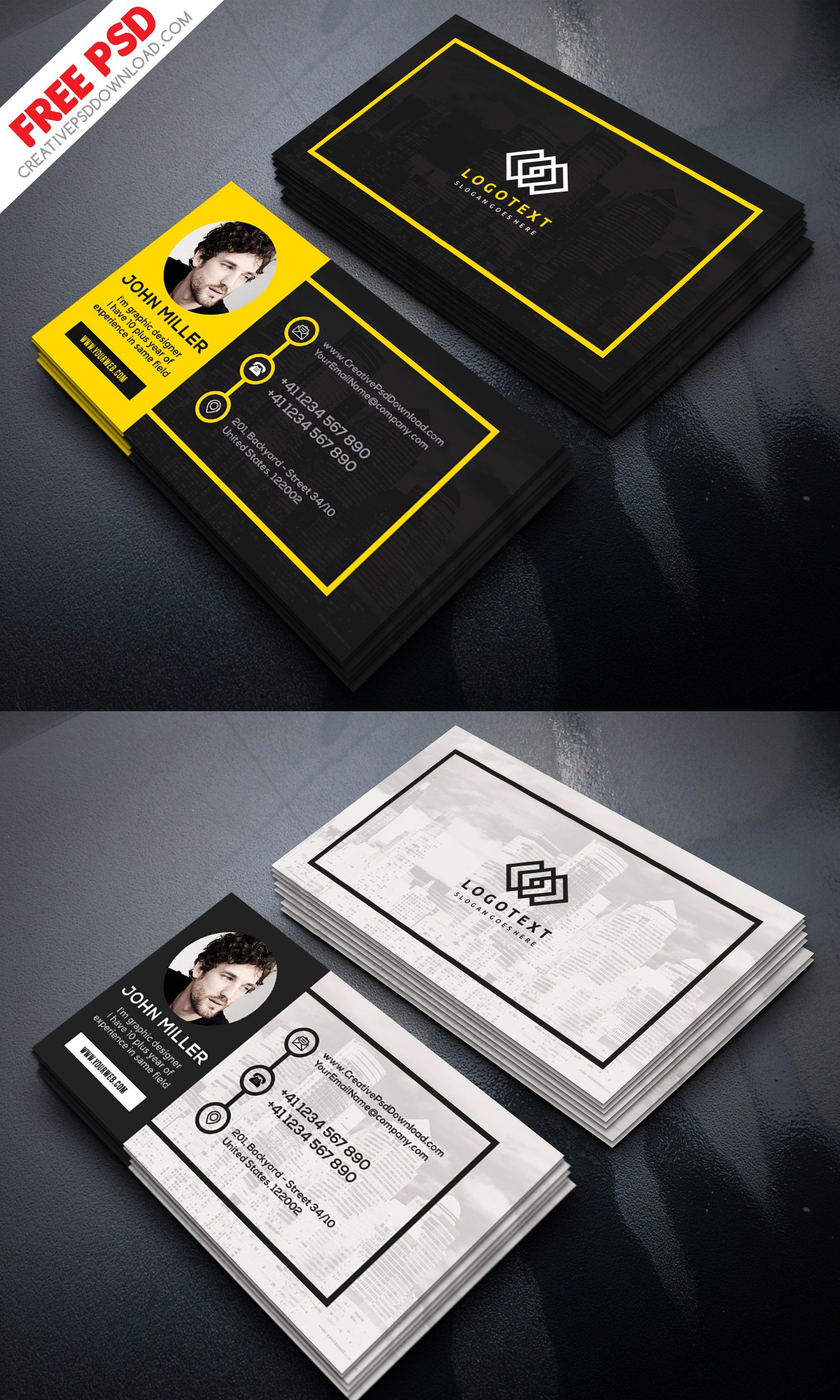 Graphic Designer Business Card Free PSD