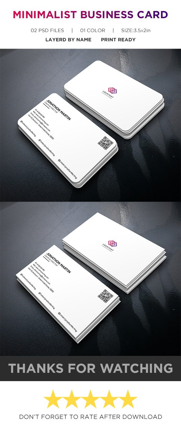 Minimalist Business Card Free PSD